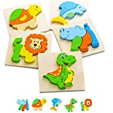 Wooden Puzzles for Toddlers 1-3 – Gift Toys for 1 2 Year Old Girls Boys – Learning Montessori...