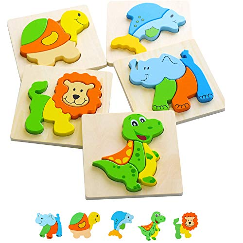 Wooden Puzzles for 1 Year Old & Up - Baby Learning...