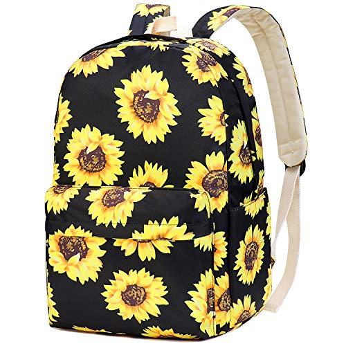 School Bags for Teenage Girls, School Backpack for Teens Teenagers (Sunflower)