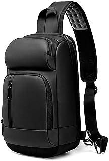 Sling Bag Waterproof Chest Shoulder Crossbody Hiking Backpack,Sport Outdoor Cycling Bicycle Rucksack Handbag School Daypack for Men Women (Color : Black, Size : M)