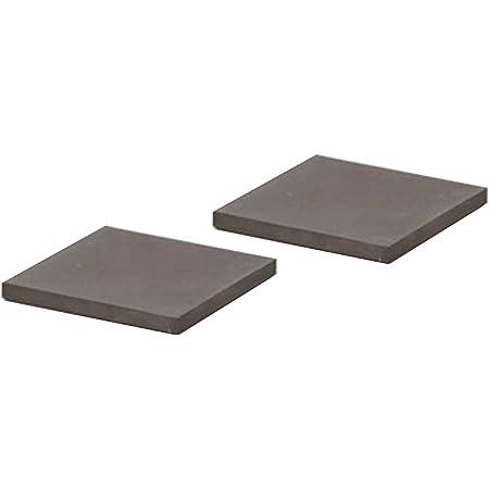 soil 珪藻土 コースター ラージ スクエア 同色2枚セット ブラック D347 BK