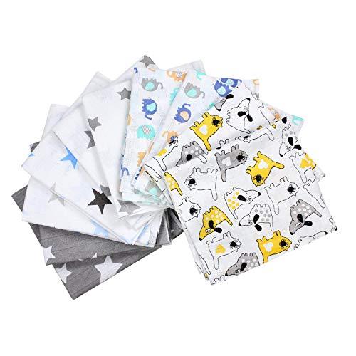 TupTam Baby Mullwindeln Spucktücher 70x80 5er / 10er Pack, Farbe: Junge, Anzahl der Teile:: 10er Pack