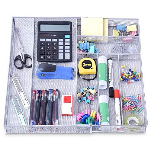 Organizador de Escritorio con Cajones Extensibles de 7 Compartimentos, Bandeja...