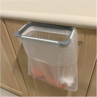 Trash Bag Holder for Kitchen Cupboard RV, Hanging Portable Trash Bin, Space Saving, Garbage Bag Storage Rack, Gray 2 Pieces