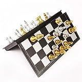 Ajedrez medieval, ajedrez, piezas de ajedrez de calidad 32 de oro mesa de juego de ajedrez de dinero Conjunto figura de ajedrez magnético