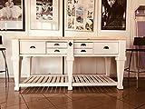 banco da cucina console tavolo shabby country legno massiccio 200x83h96 pezzo unico artigianale handmade in italy