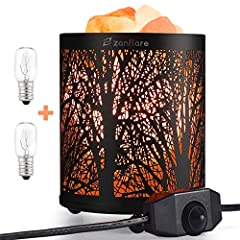 ❤【THE HEALTHIEST NATURAL SALT LIGHT】Made form natural himalayan crystal salt rock, which contains a least 84 types of minerals beneficial to the human body. When lit, the lamp radiates a warm, amber glow, creating a romantic and charming environment....