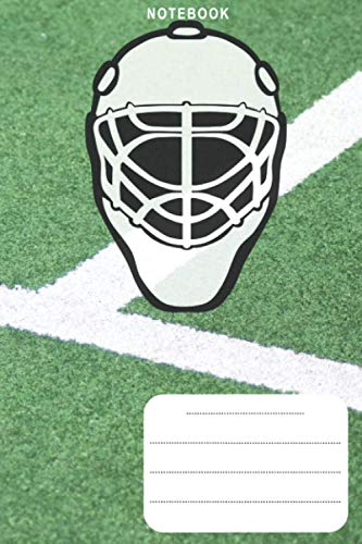 Notebook: Field Hockey Playground Mask Stick 6