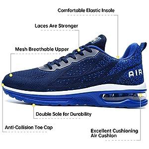 Autper Mens Air Athletic Running Tennis Shoes Lightweight Sport Gym Jogging Walking Sneakers(Navy US 7)
