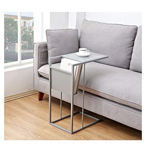 REN Sofá Mesita, Espesado Hierro Forjado Material metálico, la Base Puede ser Perfectamente insertado en el sofá y la Cama Multifuncional Estante más de 5 cm, (Color : Gray)