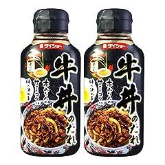 Daisho Gyudon No Tare (Seasoned Soy Sauce) Japanese Style Beef Bowl Sauce 6.17 Fl Oz | Pack of 2 Product of Japan