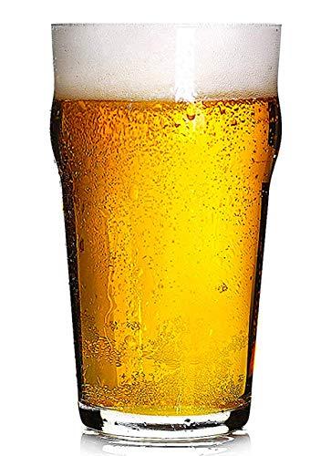 Hostelvia - Nonic Vaso de Cerveza de Pinta 56 cl - Pack de 12