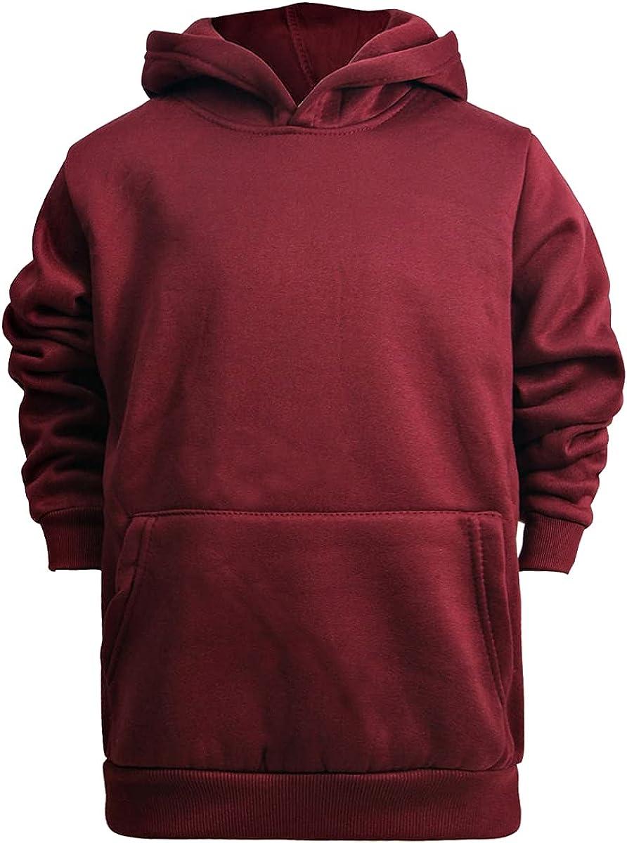 Men Pull Over Fleece Hoodie44; Burgundy - Assorted Size - Case of 24
