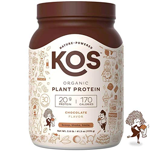 KOS Organic Plant Based Protein Powder – Raw Organic Vegan Protein Ble,