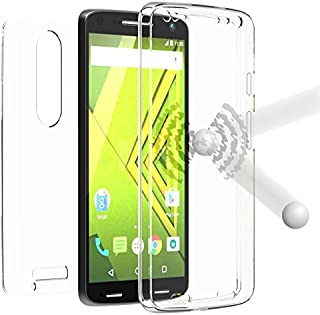NEW BEYOND CELL TRI-MAX TRANSPARENT CLEAR CASE SCREEN GUARD PROTECTOR TPU SLIM COVER FOR VERIZON MOTOROLA DROID TURBO 2 PHONE (aka MOTO X FORCE) XT1580 XT1585