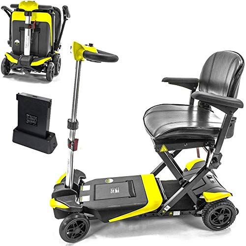 Lowest Prices! Transformer Automatic Foldable Travel Scooter Yellow with Lightweight Lithium Battery...