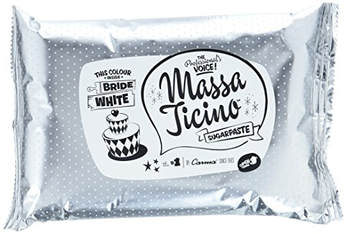 Massa Ticino Rollfondant Bride White, das Original von Carma aus der Schweiz, weiß 1kg