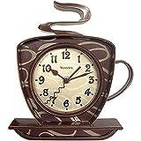 Westclox W32038 NYL32038-WESTCLOX 32038 Coffee Time 3-Dimensional Wall Clock, Brown
