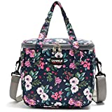 Lunch Bags for Women Insulated Lunch Box for Girls Adults Student Cooler Lunch Tote Bag with Adjustable Shoulder Strap and Front Pocket Perfect for School Office Work Picnic