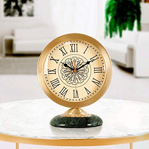 jinyi2016SHOP Pendeluhr Leichte Luxus Reine Kupfer tischuhr kreative Mode Moderne wohnzimmeruhr Schlafzimmer Uhr Design Pendel-Wanduhr (Color : B)