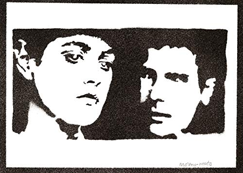 Poster Blade Runner Affiche Rachael et Rick Handmade Graffiti Street Art - Artwork