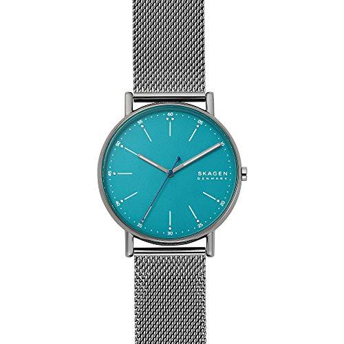 SKAGEN Mens Analog Quartz Uhr mit Stainless Steel Armband SKW6743