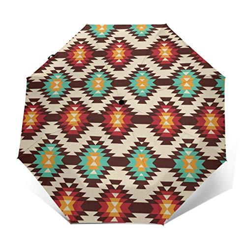 Automatischer dreifach gefalteter Regenschirm Schützen Sie Sonnenschutz Robuste winddichte leichte Regenschirme American Native