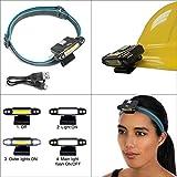 Rechargeable Headlamps for Camping Hiking - LED Hard Hat Light - Lightweight Running Headlamp - Best Head Lamp for Kids - USB Light on Headband