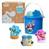 Just Play Blue's Clues & You! Bath Bucket 7-Piece Set, Includes 3 Water Toys, 1 Figure, Bath Fizzy, Sponge and Bucket, Amazon Exclusive, Multi-Color
