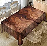 Wood Grain Printing Table Cloth Kitchen Table Cover Waterproof Table Cloth Linen Polyester Household Table Cloth Decorative Textiles