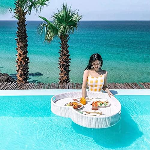 Zwembad Dienblad, Gigantische Drijvende Dienbladen Tafel Bar, Zwembad Drijft Trays Voor Vakantie Villa Spa