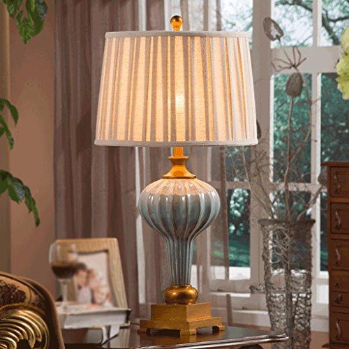 Bonne chose lampe de table Lampe de table en céramique Living Room Study Bedroom Bedside Hotel Lampe de décoration rétro luxueuse Large