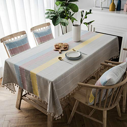 YOUYUANF tablecloth wipeSuper soft square tablecloth protection pad artificial linen waterproof tablecloth wipe clean tablecloth140x200cm