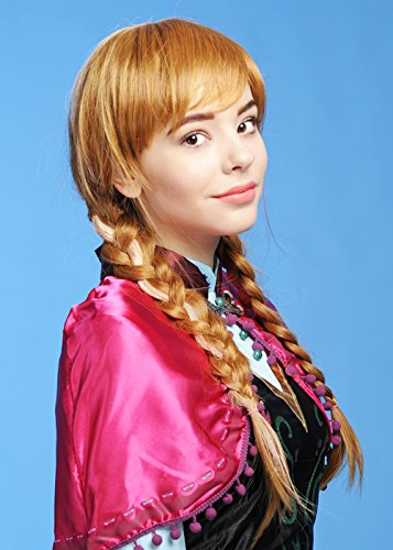 Adulte luxe Anna congelée Style perruque Auburn