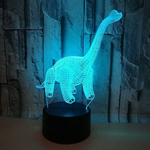 Dinosaurier 3d Nachtlampe Colourful Touch Ferngesteuerte LED Visual Gift Desk Lampe 7 Farbwechsel Tischlampen für Wohnzimmer