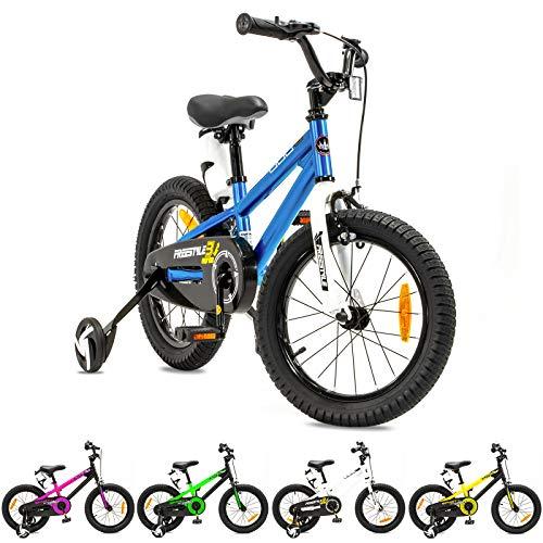 NB PARTS Kinderfahrrad für Mädchen und Jungen BMX Bike ab 3 Jahre 12 Zoll / 16 Zoll (Blau 12 Zoll, 12)