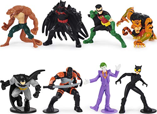 BATMAN, 2-inch Scale 8-Pack of Collectible Mini Action Figures (Amazon Exclusive), for Kids Aged 3 and up