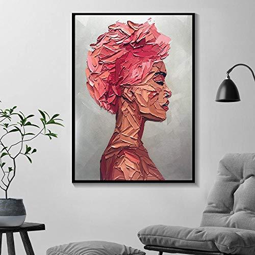 Graffiti kunst canvas schilderij woonkamer meisje kamer nordic modern decoratief schilderen abstract meisje muur foto- frameloze 50x70cm