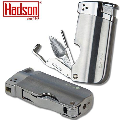 Hadson Pfeifenfeuerzeug Multi Pipe chrom-satin