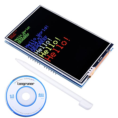 Longruner 3.5 inch TFT Screen with ArduinoIDE MEGA 2560 Board Module with ArduinoIDE with SD Card Socket All Technical Data in CD LSC3A-1