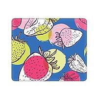 苺 イチゴ柄 (1) マウスパッド キーボードパッド 防水 耐油 パソコンマット デスクマット 柄プリント ゲームパッド 水洗い ゲーミングマウスパッド 滑り止め ゲームプレイヤー専用