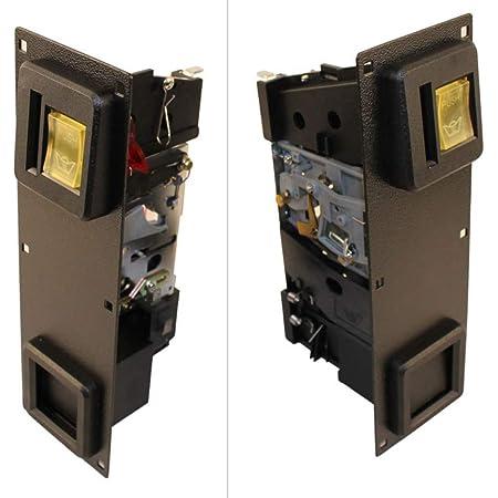 "Dual Coin Slot Arcade Door with Pyramid XLC-5200 Bill Acceptor 9/""X10/"""