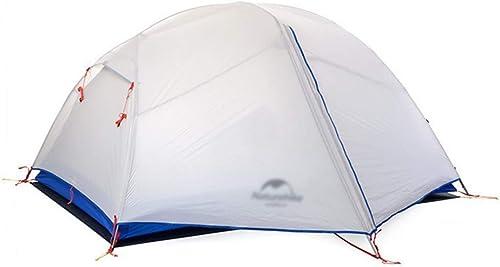BJYG Marque Tente de Camping Robuste pour Deux Personnes Tente de randonnée, Sac de Prougeection Contre la Pluie Double Saison 3 Saisons Nécessité d'être assemblé 20D ultraléger pour la randonnée