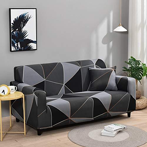 PPMP Fundas de Spandex para sofá para Sala de Estar, Funda elástica para sofá, Fundas para sillón, Protector de Muebles A23, 4 plazas