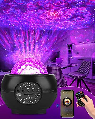 DeepDream LED Sternenhimmel Projektor Galaxy Light mit 27 Lichtmodus und Bluetooth Musikplayer Nachtlicht Sternenhimmel für Kinder Erwachsene Sternenlicht Projektor für Party, Hochzeit, Weihnachten