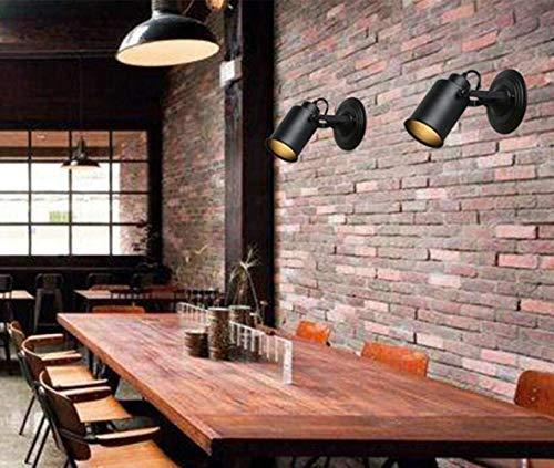 The only goede kwaliteit decoratie vintage landhuisstijl wandlampen loft verstelbare wandlamp metalen wandvlek zwart ijzer lamplichaam flexibele arm, zwart, A Villa