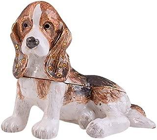 Keren Kopal Brown Basset Hound Dog Trinket Box Collectible Animal Figurine Interior Design House Gift Idea