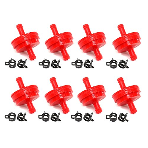 AISEN 8x Rasenmäher Kraftstofffilter Benzinfilter mit Clamp für Briggs & Stratton 298090 298090S STENS 120-188