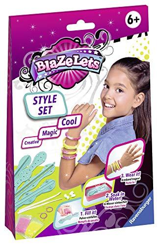 Ravensburger 18070 Blazelets Style Set, Glitzer-Armbänder selber machen, DIY für Mädchen ab 6 Jahren, stylische Freundschaftsarmbänder