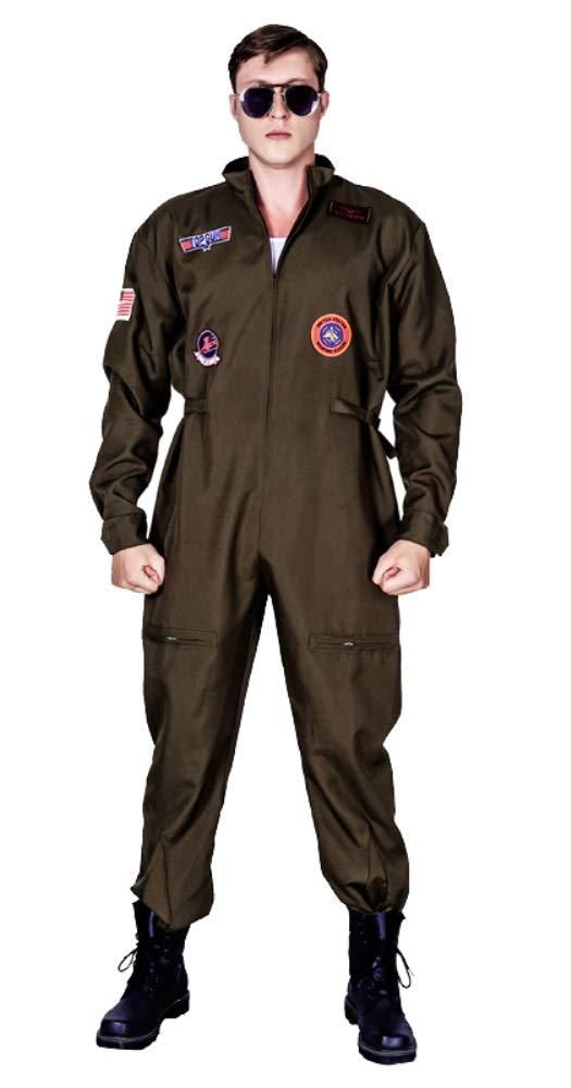 メンズ空軍戦闘機パイロット成人服ジャンプスーツ